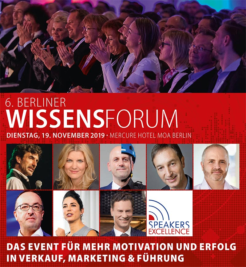 Keynote Speaker Manuel Marburger Berliner Wissensforum 2019