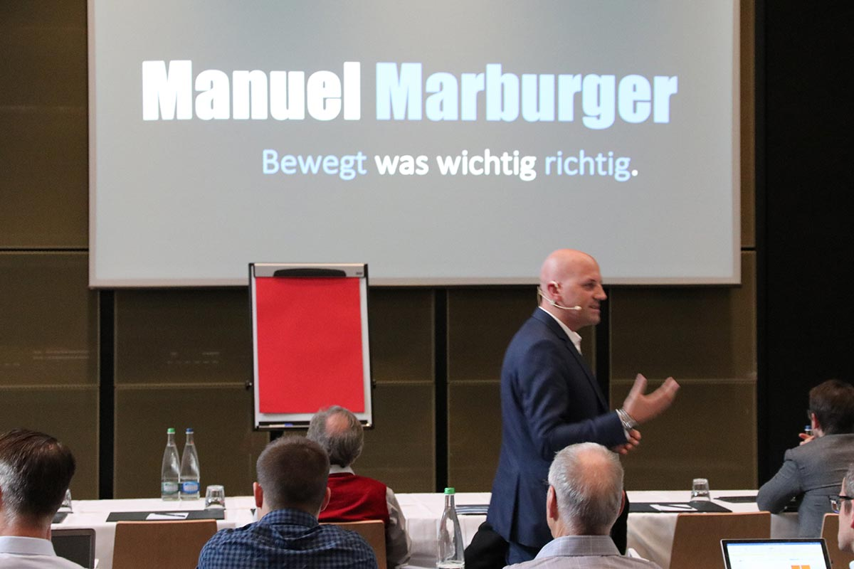 Keynote Speaker Manuel Marburger in Dresden