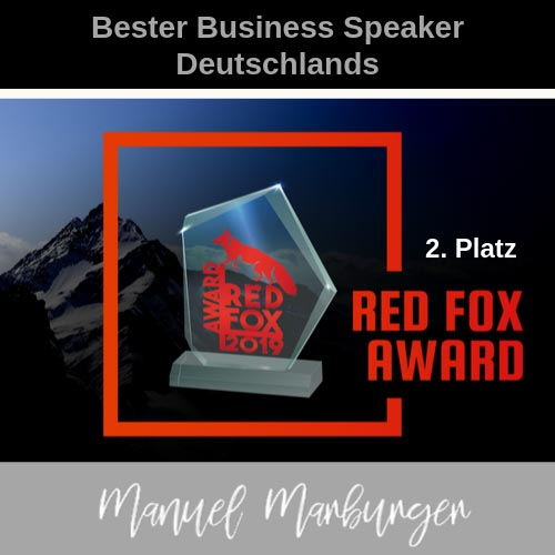 Red Fox Arward 2019 - Deutschlands bester Business Speaker